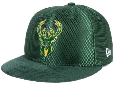 Milwaukee Bucks New Era NBA On-Court Collection Draft 59FIFTY Cap