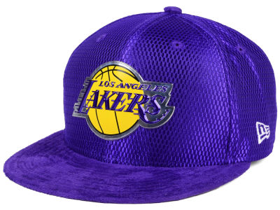 Los Angeles Lakers New Era NBA On-Court Collection Draft 9FIFTY Snapback Cap