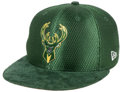 Milwaukee Bucks New Era NBA On-Court Collection Draft 9FIFTY Snapback Cap