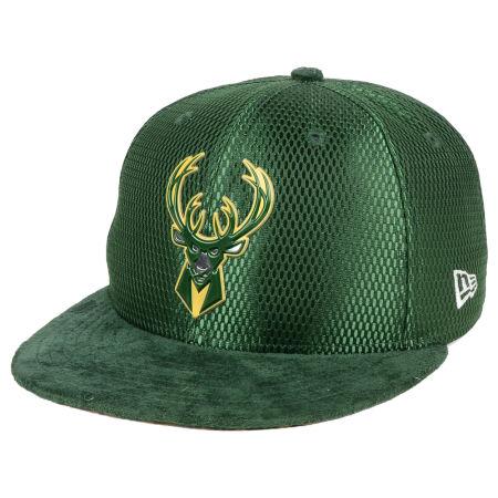Milwaukee Bucks New Era NBA On-Court Collection Draft 9FIFTY Snapback Cap
