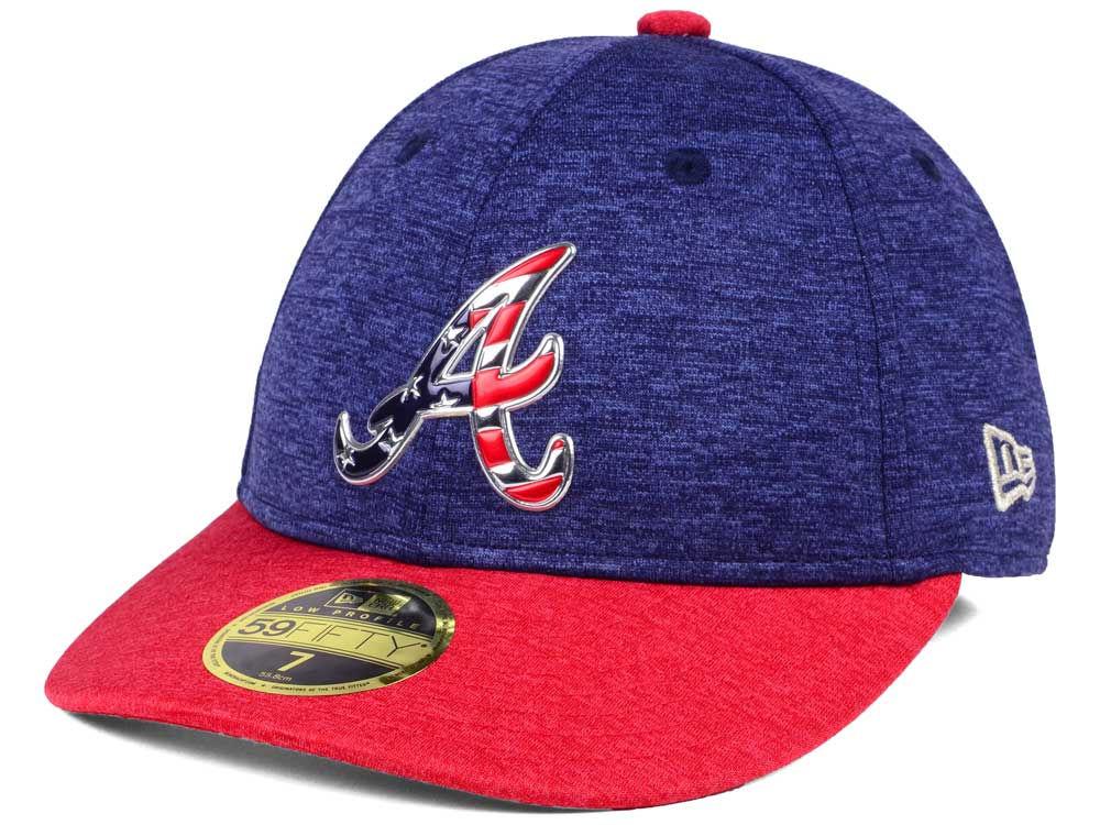 Atlanta Braves New Era 2017 MLB Low Profile Stars   Stripes 59FIFTY Cap  05702bb62fc