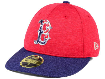 Boston Red Sox New Era 2017 MLB Low Profile Stars & Stripes 59FIFTY Cap