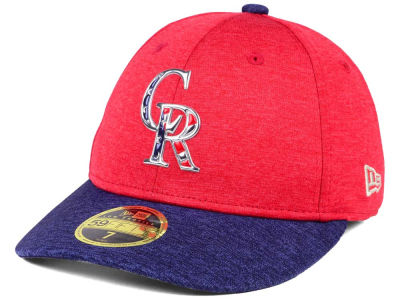 Colorado Rockies New Era 2017 MLB Low Profile Stars & Stripes 59FIFTY Cap