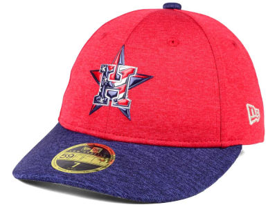 Houston Astros New Era 2017 MLB Low Profile Stars & Stripes 59FIFTY Cap