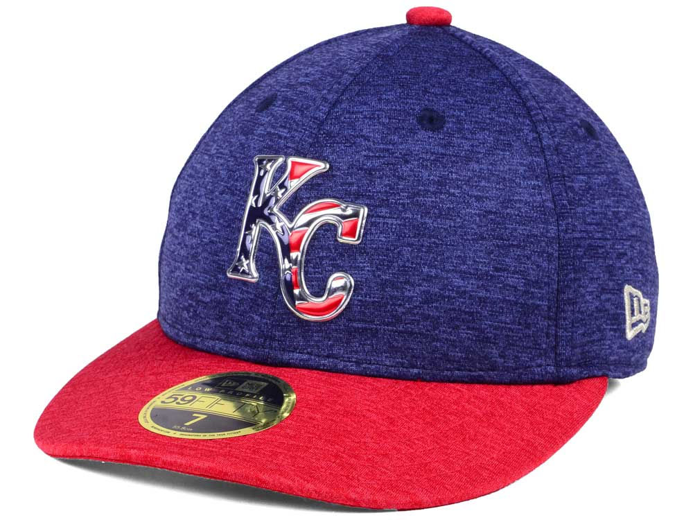 a7f5c30fb31 Kansas City Royals New Era 2017 MLB Low Profile Stars   Stripes 59FIFTY Cap