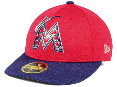 Miami Marlins New Era 2017 MLB Low Profile Stars & Stripes 59FIFTY Cap