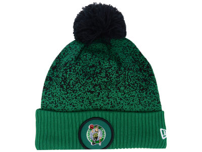 Boston Celtics New Era NBA On-Court Collection Pom Knit