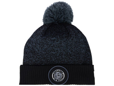 Brooklyn Nets New Era NBA On-Court Collection Pom Knit