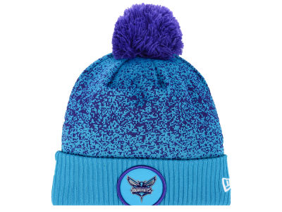 Charlotte Hornets New Era NBA On-Court Collection Pom Knit
