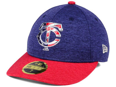 Minnesota Twins New Era 2017 MLB Low Profile Stars & Stripes 59FIFTY Cap