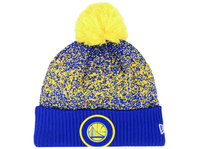 Golden State Warriors New Era NBA On-Court Collection Pom Knit