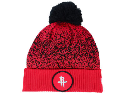 Houston Rockets New Era NBA On-Court Collection Pom Knit