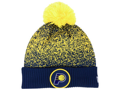 Indiana Pacers New Era NBA On-Court Collection Pom Knit
