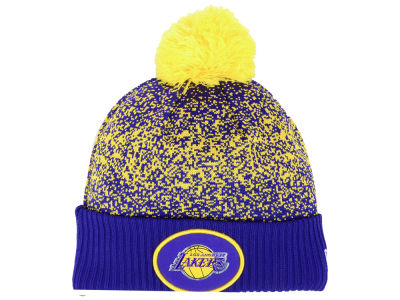 Los Angeles Lakers New Era NBA On-Court Collection Pom Knit