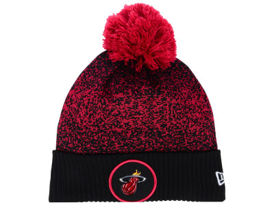 Miami Heat New Era NBA On-Court Collection Pom Knit