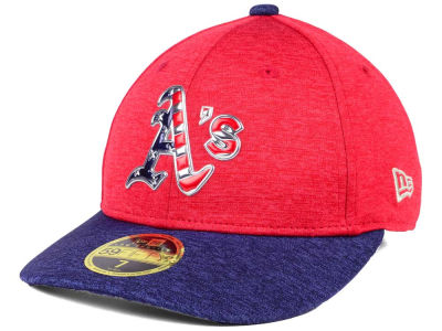 Oakland Athletics New Era 2017 MLB Low Profile Stars & Stripes 59FIFTY Cap