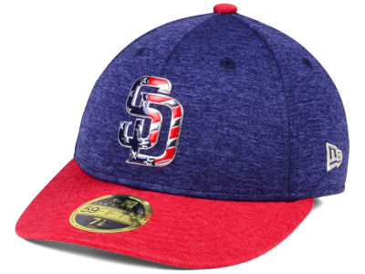 San Diego Padres New Era 2017 MLB Low Profile Stars & Stripes 59FIFTY Cap