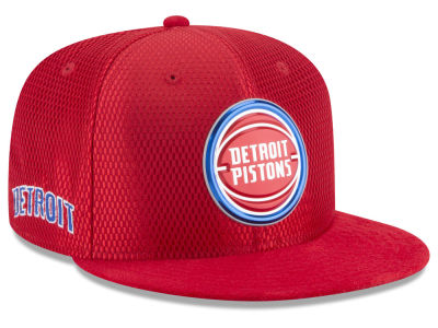 Detroit Pistons New Era 2017 NBA On Court Reverse 9FIFTY Snapback Cap