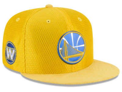 Golden State Warriors New Era 2017 NBA On Court Reverse 9FIFTY Snapback Cap