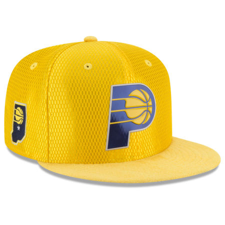 Indiana Pacers New Era 2017 NBA On Court Reverse 9FIFTY Snapback Cap