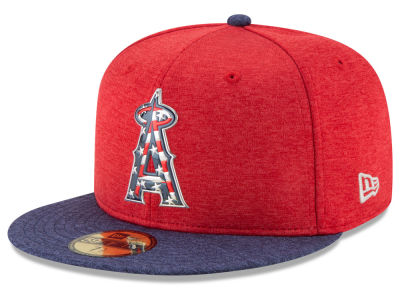 Los Angeles Angels New Era 2017 MLB Kids Stars & Stripes 59FIFTY Cap