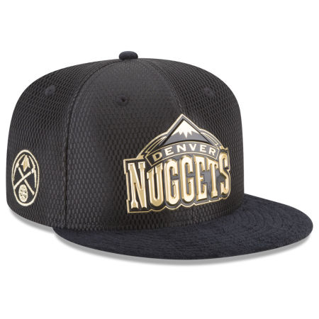 Denver Nuggets New Era NBA On-Court Black Gold Collection 9FIFTY Snapback Cap