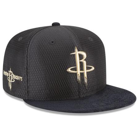 Houston Rockets New Era NBA On-Court Black Gold Collection 9FIFTY Snapback Cap