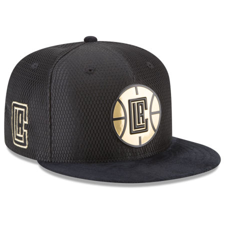 Los Angeles Clippers New Era NBA On-Court Black Gold Collection 9FIFTY Snapback Cap