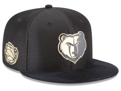 Memphis Grizzlies New Era NBA On-Court Black Gold Collection 9FIFTY Snapback Cap