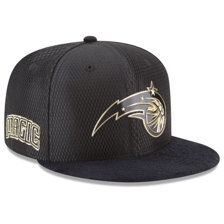 Orlando Magic New Era NBA On-Court Black Gold Collection 9FIFTY Snapback Cap