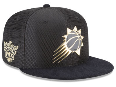Phoenix Suns New Era NBA On-Court Black Gold Collection 9FIFTY Snapback Cap