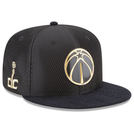 Washington Wizards New Era NBA On-Court Black Gold Collection 9FIFTY Snapback Cap