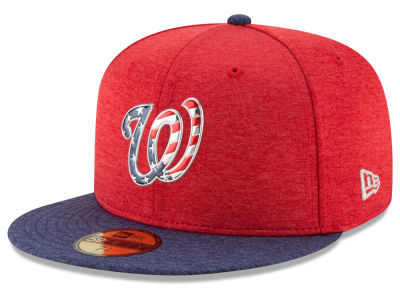 Washington Nationals New Era 2017 MLB Kids Stars & Stripes 59FIFTY Cap