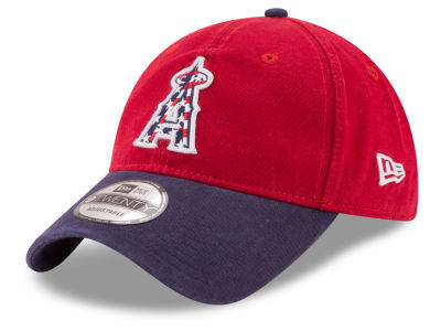 Los Angeles Angels New Era 2017 MLB Stars & Stripes 9TWENTY Strapback Cap