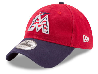 Miami Marlins New Era 2017 MLB Stars & Stripes 9TWENTY Strapback Cap