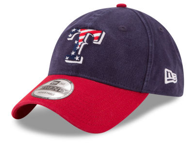 Texas Rangers New Era 2017 MLB Stars & Stripes 9TWENTY Strapback Cap