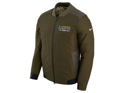 Detroit Lions Nike 2017 NFL Men's Salute To Service Reversible Bomber Jacket