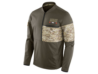 Cleveland Browns Nike 2017 NFL Men's Salute To Service Hybrid Half Zip Jacket
