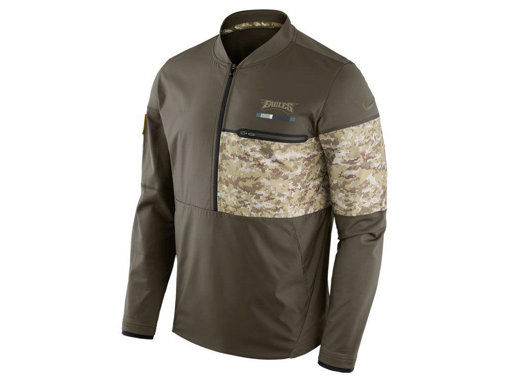Philadelphia Eagles Nike 2017 NFL Men s Salute To Service Hybrid Half Zip  Jacket  53183df7a