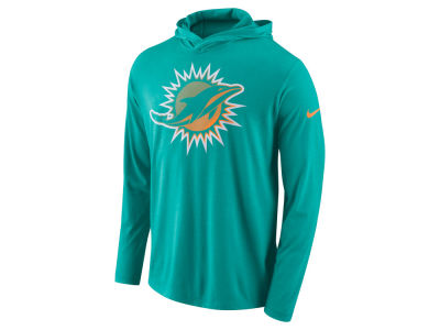 Miami Dolphins Nike NFL Men's Blend Hooded Long Sleeve T-Shirt