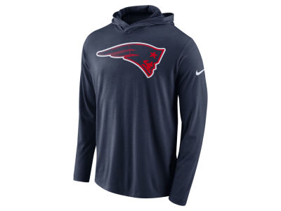 New England Patriots Nike NFL Men's Blend Hooded Long Sleeve T-Shirt