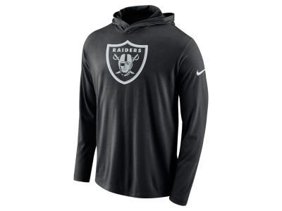 Oakland Raiders Nike NFL Men's Blend Hooded Long Sleeve T-Shirt