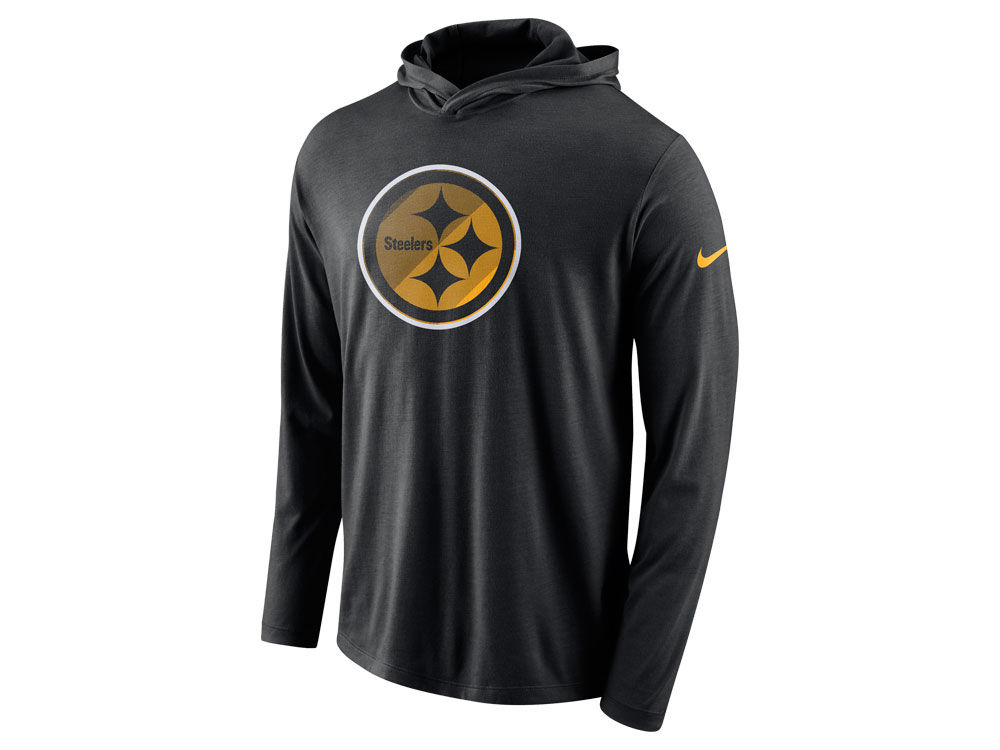 5b82e73b8 Pittsburgh Steelers Nike NFL Men s Blend Hooded Long Sleeve T-Shirt ...