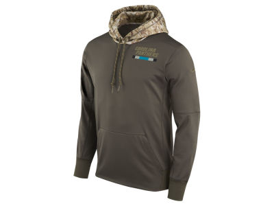 Carolina Panthers Nike NFL Men's Salute To Service Therma Hoodie