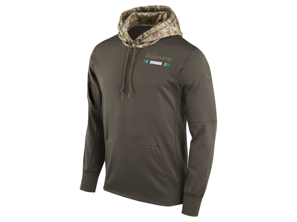 41911dc6d Miami Dolphins Nike NFL Men s Salute To Service Therma Hoodie