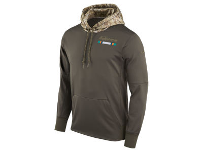 Miami Dolphins Nike NFL Men's Salute To Service Therma Hoodie