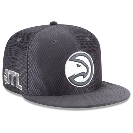 Atlanta Hawks New Era NBA On-Court Graphite Collection 9FIFTY Snapback Cap