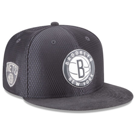 Brooklyn Nets New Era NBA On-Court Graphite Collection 9FIFTY Snapback Cap