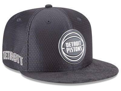 Detroit Pistons New Era NBA On-Court Graphite Collection 9FIFTY Snapback Cap