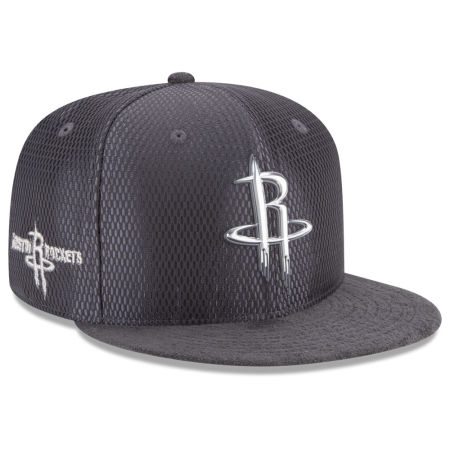 Houston Rockets New Era NBA On-Court Graphite Collection 9FIFTY Snapback Cap